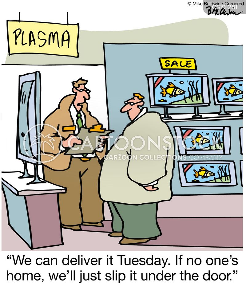 Flat Screen Tv Cartoons And Comics Funny Pictures From