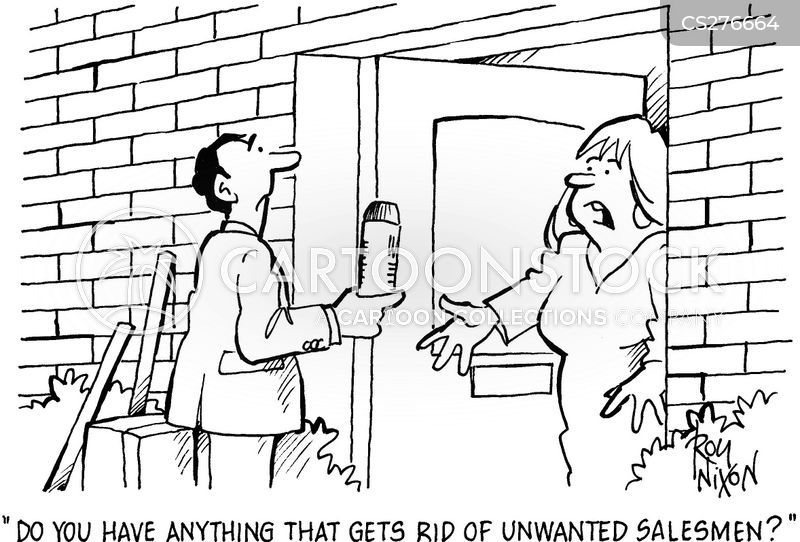 Door to door selling cartoons and comics funny pictures for Door to door salesman