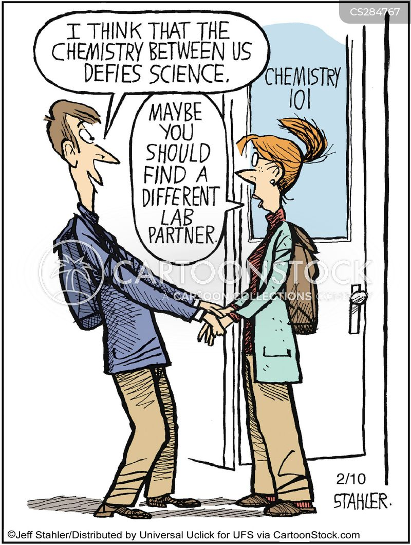 Chemical reaction cartoon