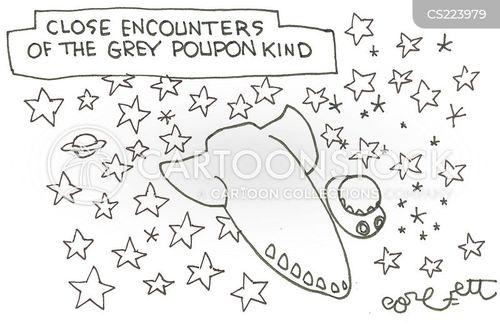 close encounters cartoons and comics