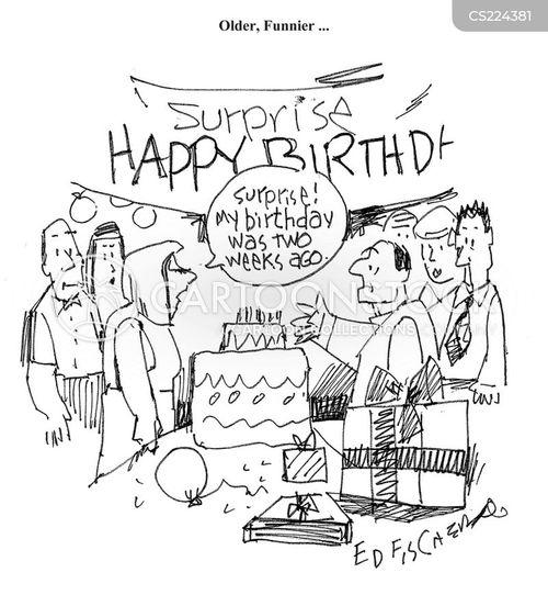Surprise cartoon party
