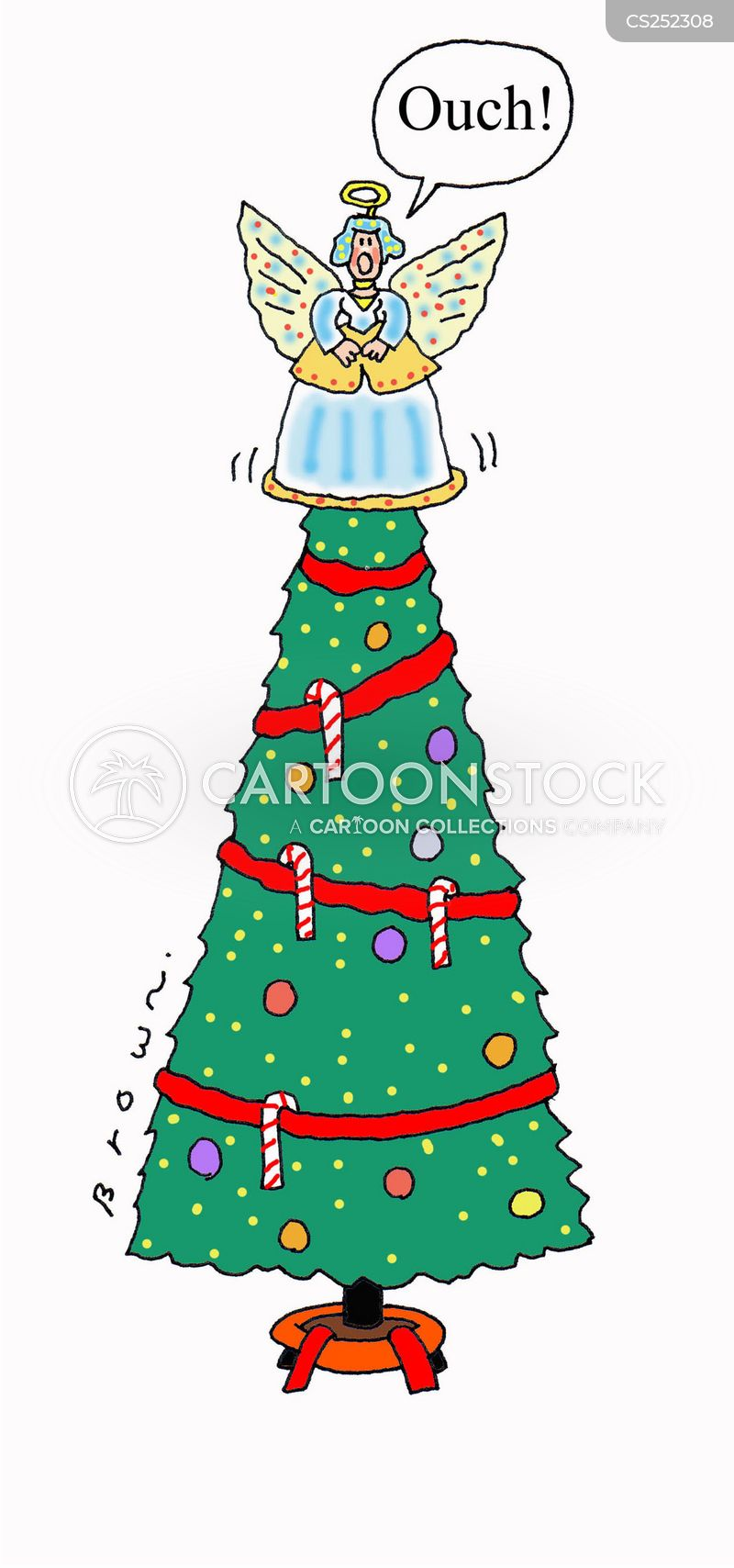 Christmas Tree Decoration Cartoons and Comics - funny ...
