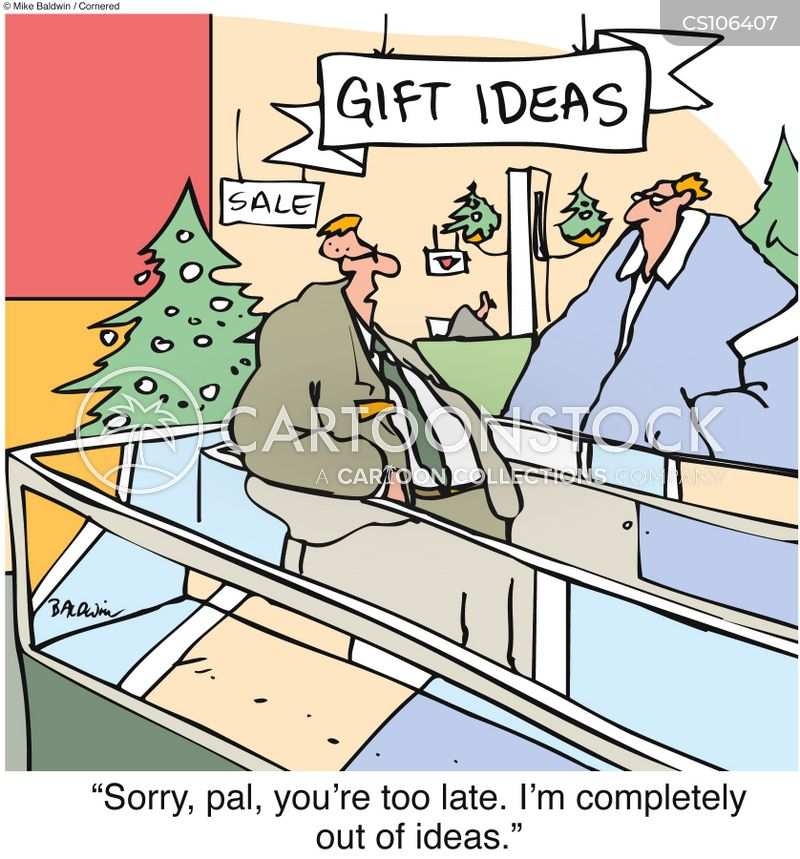 Christmas Shopping Cartoons And Comics Funny Pictures