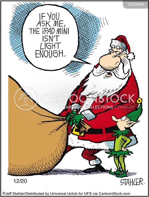 funny santa cartoons for kids