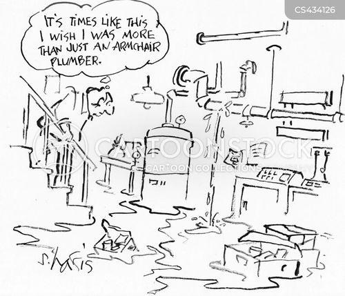 plumbing disaster cartoons and comics