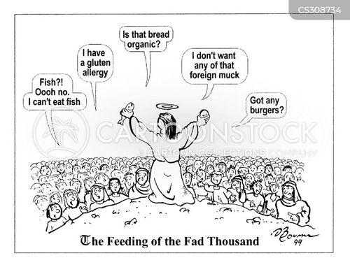 Feeding Of The Five Thousand Cartoons And Comics