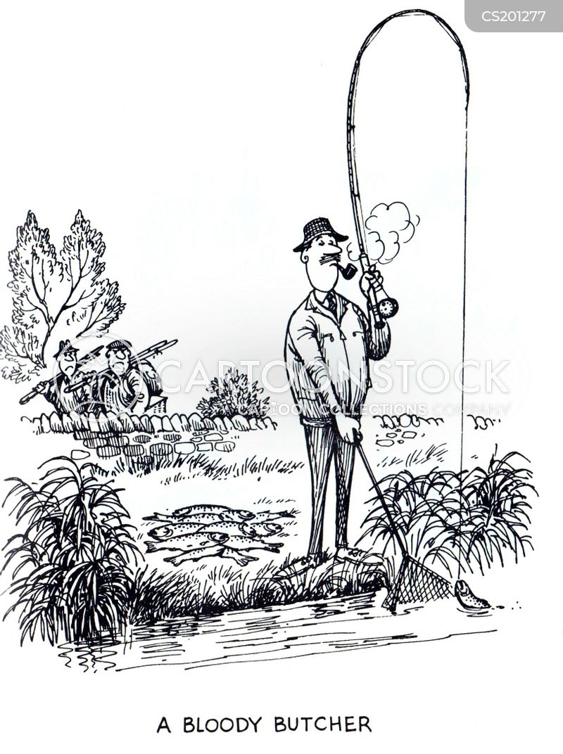 Fishing accident cartoons and comics funny pictures from for Fishing hook accidents