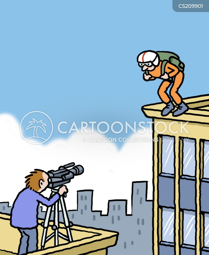 Base Jumping Cartoons And Comics Funny Pictures From