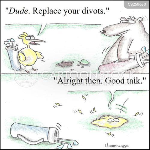 how to make a divot