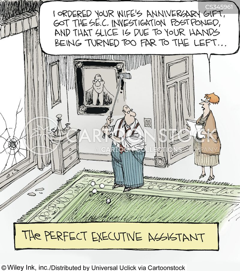 Executive Cartoon: Golf Tips Cartoons And Comics