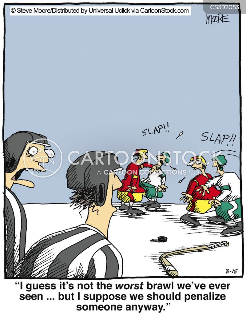 playing hockey cartoons and comics funny pictures from