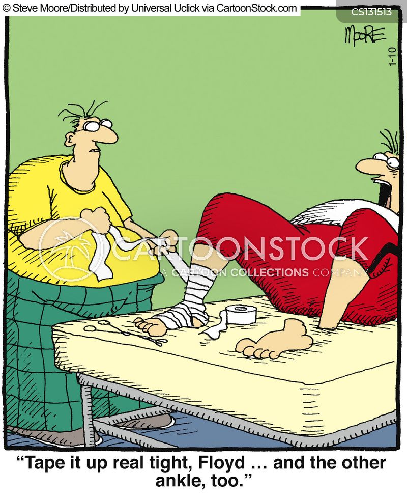 Ankle Cartoons and Comics - funny pictures from CartoonStock
