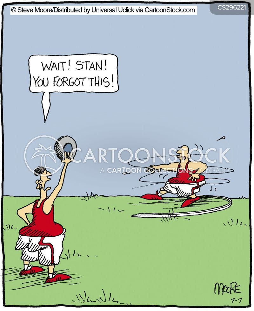 Shot put cartoon