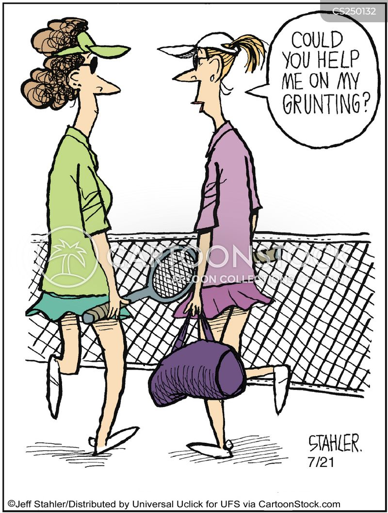 Tennis Players Cartoons And Comics Funny Pictures From
