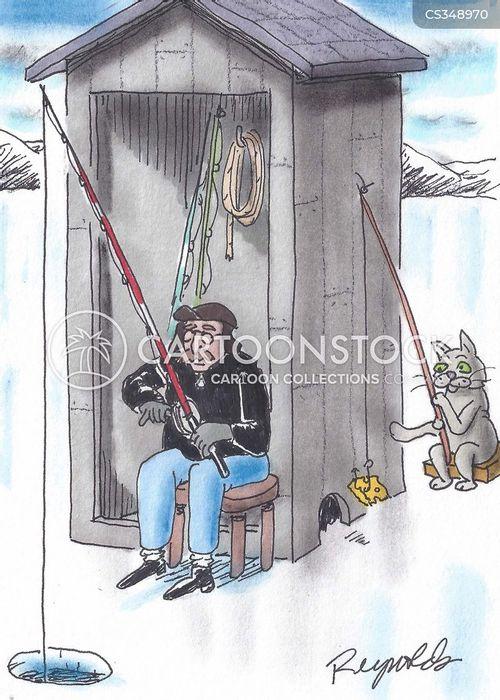 Ice Fishing Cartoons and Comics