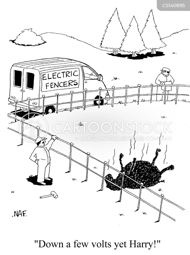 electric fence cartoons and comics