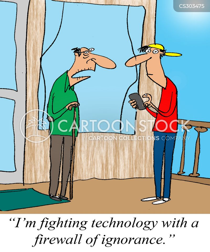 Technophobe Cartoon, Technophobe Cartoons, Technophobe Bild, Technophobe Bilder, Technophobe Karikatur, Technophobe Karikaturen, Technophobe Illustration, Technophobe Illustrationen, Technophobe Witzzeichnung, Technophobe Witzzeichnungen