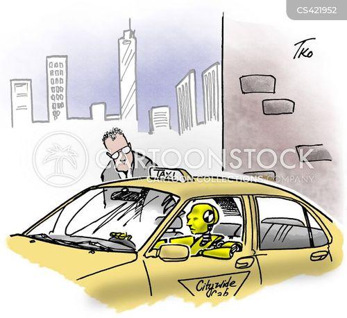 Taxi Car Cartoons And Comics
