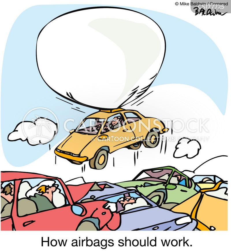 Airbags Cartoon, Airbags Cartoons, Airbags Bild, Airbags Bilder, Airbags Karikatur, Airbags Karikaturen, Airbags Illustration, Airbags Illustrationen, Airbags Witzzeichnung, Airbags Witzzeichnungen