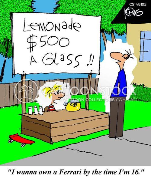 Young Entrepreneur Cartoon