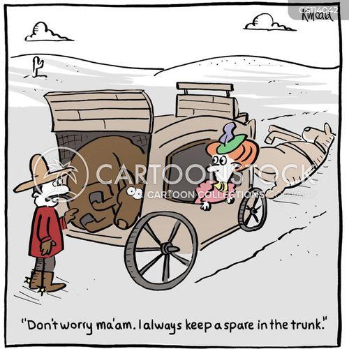 flat tyre cartoons  comics funny pictures  cartoonstock