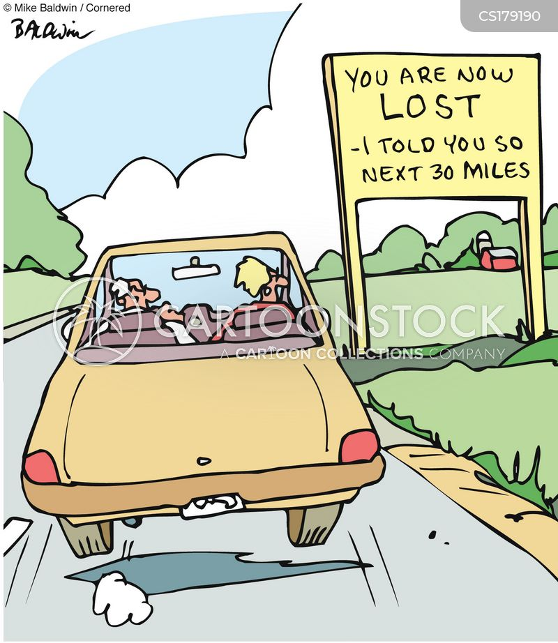 Funny Cartoons Of Woman Driving The Car The Wrong Way