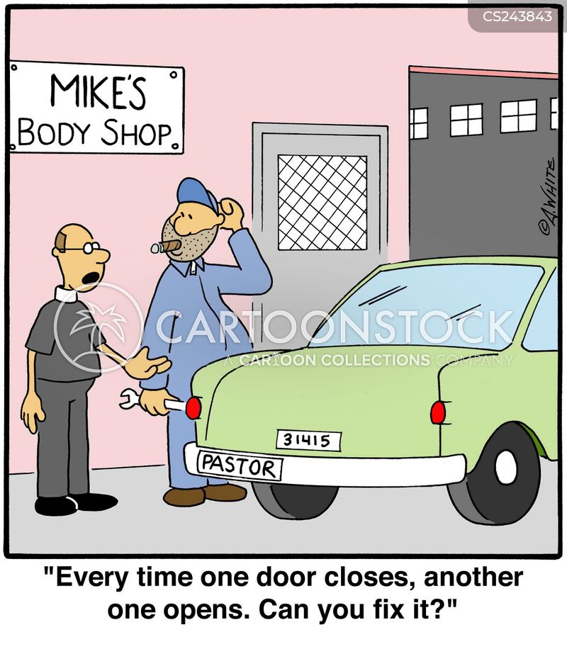 Door closes cartoons and comics funny pictures from for Door quotes funny