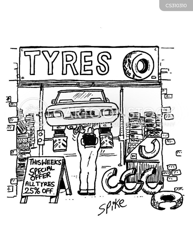 Tire Fitter Cartoons And Comics Funny Pictures From