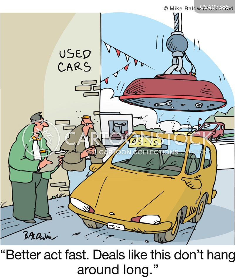 Baldwin Auto Sales >> Used Car Sales Cartoons and Comics - funny pictures from CartoonStock