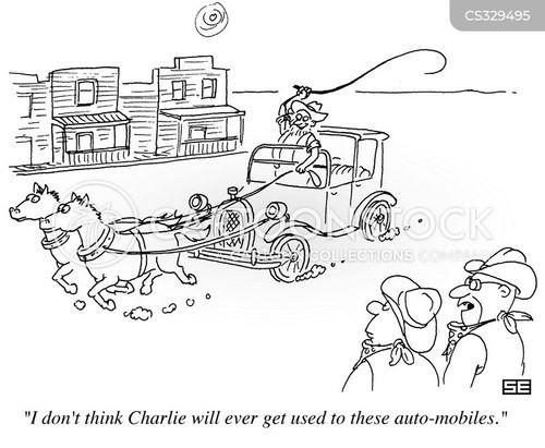 auto mobile cartoons and comics