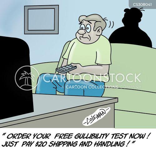 gullibility test cartoon