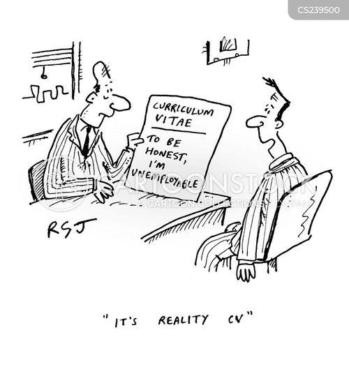 reality cv cartoons and comics