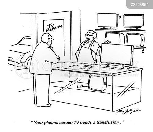 tv repairs cartoons and comics