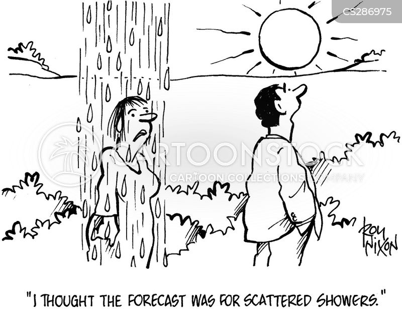 scattered showers cartoons and comics