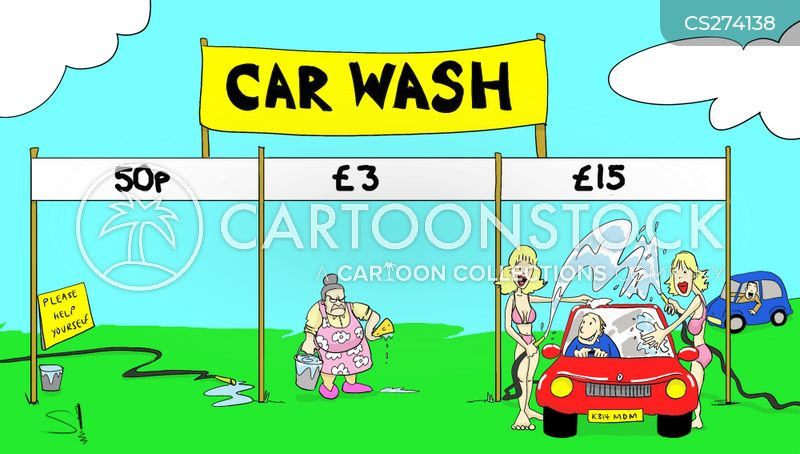 Platinum Car Wash >> Clean Car Cartoons and Comics - funny pictures from CartoonStock